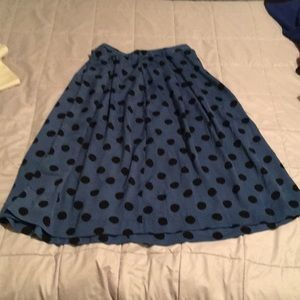 Who What Wear Midi Polka Dot Skirt